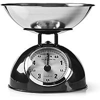 Nedis Balance de cuisine numérique | Analogique | Acier | Removable bowl | Noir