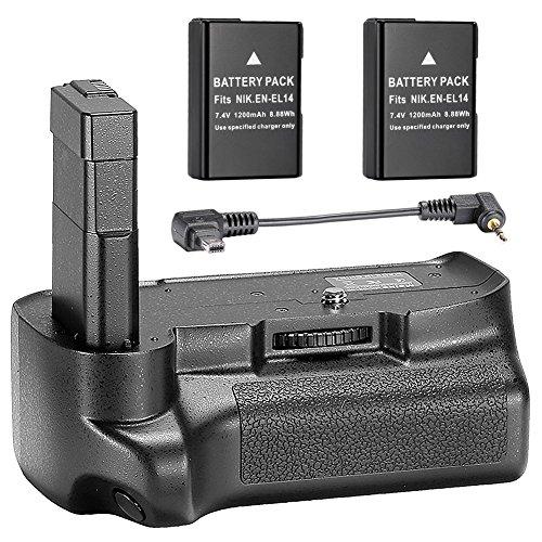 Neewer® Vertikaler Batterie-Griff, 7.4V, 1200mAh, Ersatz-Akku für Nikon D3100D3200D3300