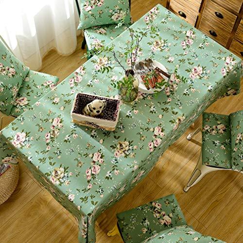 Pahajim pastorale moderna tessuto tovaglia di cotone lino semplice stile semplice tovaglia con tovaglia lavabile per la decorazione della tabella riunioni di famiglia tavolo(rettangolo/ovale,140x180cm