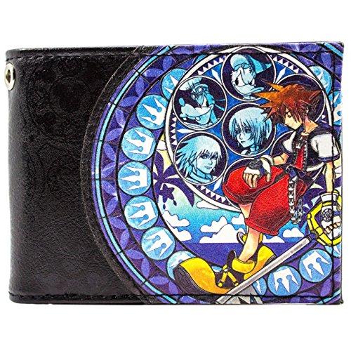 Kingdom Hearts 2 Sora Donald Goofy Blau Portemonnaie Geldbörse