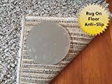 Sticky Discs Non-Slip Rug Pads For RUG-ON-FLOOR Anti-Slip. Reusable Rug Stickers. No Residue. 4 Pack Intended To Limit Small Rugs/Exercise/Door Mats From Moving On FLOORS. BRAND NEW!