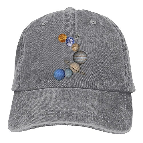 pants hats Men And Women Solar System Planets Vintage Jeans Baseball Cap