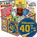 Wilkommen im Club 40 - Geschenke zum 40 Geburtstag - Geschenk Set DDR Schkolade