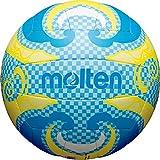 Freizeitball, weiches Synthetik-Leder, maschinengenäht - Farbe: Blau/Gelb, Größe: 5