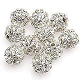 anty-ni10mm plata cristal Rhinestone Bola De Discoteca cuentas para pulsera haciendo? (10piezas) by Beautiful Bead