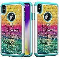 Shinyzone Stoßfest Hybrid Hülle für iPhone XS,Dual Layer Handyhülle mit Luxus Bling Handarbeit Strass Diamant... preisvergleich bei billige-tabletten.eu