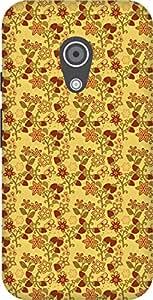 The Racoon Grip printed designer hard back mobile phone case cover for Moto G 2nd Gen. (Amber Stra)
