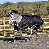 BUCAS Outdoor Pferdedecke SMARTEX RAIN, schwarz, 125