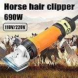 690W Tondeuses de toilettage cisailles à cheval professionnelles,coupe de cheveux d'animaux de grande et moyenne taille,tondeuse à cheveux électrique pour chiens à poil épais,chien,équin,bétail