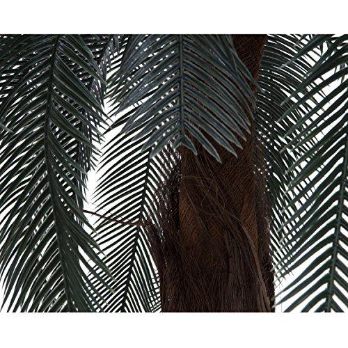 artplants Set 2 x Künstliche Cycuspalme mit Palmfaserstamm, 210 cm – Künstliche Palme/Cycas Kunstpflanzen