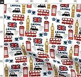 London, Stadt, Städte, Reise, England, Europa Stoffe -