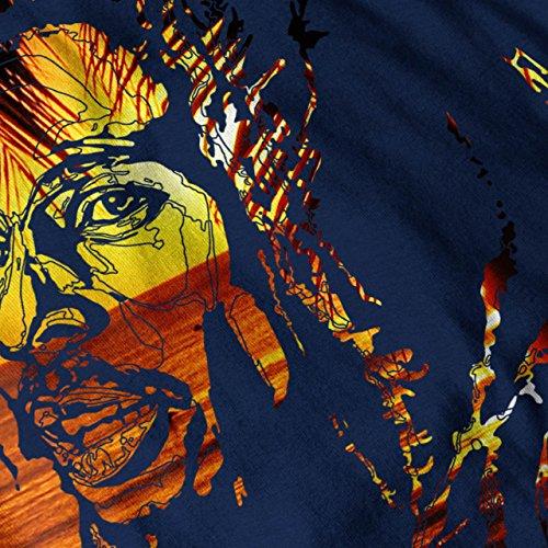 Nehmen es Einfach Marley Rasta Bob Marley Damen S-2XL Muskelshirt | Wellcoda Marine