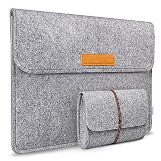 Inateck 13,3 Zoll Laptop-Tasche Hülle Ultrabook mit MacBook Air/Pro Retina/12,9 Zoll iPad, Grau