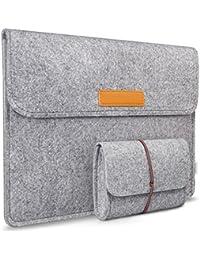 Inateck 13,3 Zoll Macbook Air/ Pro Retina 12,9 Zoll iPad Pro Filz Sleeve Hülle Ultrabook Laptop Tasche Farbe: Grau
