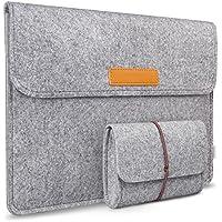 Inateck 13,3 Zoll Macbook Air/Pro Retina 12,9 Zoll iPad Pro Filz Sleeve Hülle Ultrabook Laptop Tasche Farbe: Grau