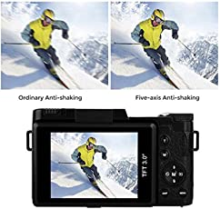 Dontdo Digitaler Camcorder, LCD Digitalkamera Full HD 1080P Professionelle Video Camcorder Vlogging Kamera