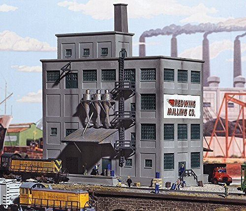 N Scale Red Wing Milling Co. -- Kit - 6-5/8 x 4-7/8 16.5 x 12cm by Walthers Cornerstone 6 5/8