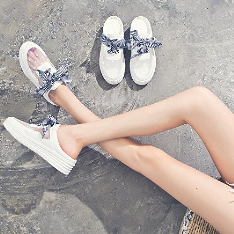 SOHOEOS Flip Flop Dames D'été En Plein Air Bow Nouveau Dames Bow Air Knot Mode Fermeture Toe Flip Flop Strappy Sandales , bc087e