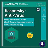 Kaspersky Anti-Virus 2020 Latest Version - 3 PCs, 3 Years (Email Delivery in 2 hours- No CD)