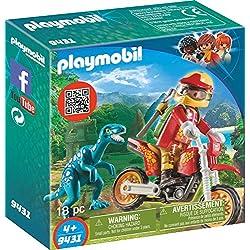Playmobil Moto con Velociraptor, multicolor (9431)