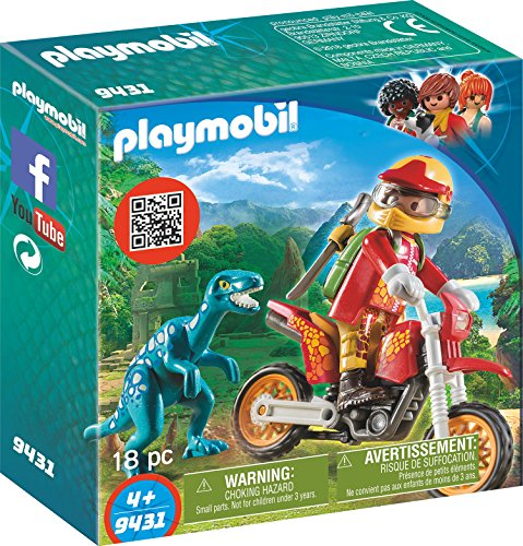 Playmobil 9431 - Moto da Cross e Raptor