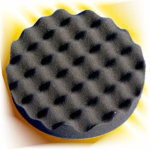 Haitecs PremiumPolish Polierschwamm Pad 180 mm schwarz Waffel weich (Waffel-pad)