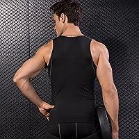 NBX Chaleco Apretado de Entrenamiento de los Hombres de Fitness de Baloncesto con Chaleco de Secado rápido,Negro,XL