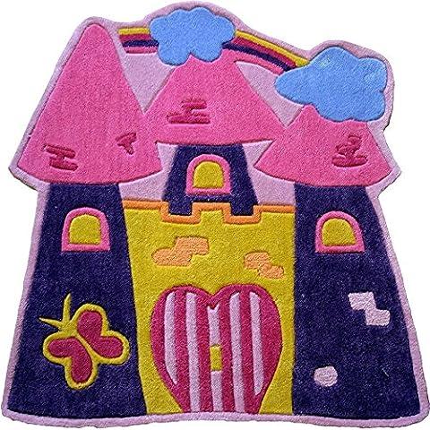 Flair Rugs Kiddy Play Fairytale Castle Childrens Rug, Multi, 90