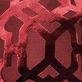 Basta contempo lusso velluto geometrico cuscino, poliestere, bordeaux, 45,7x 45,7cm