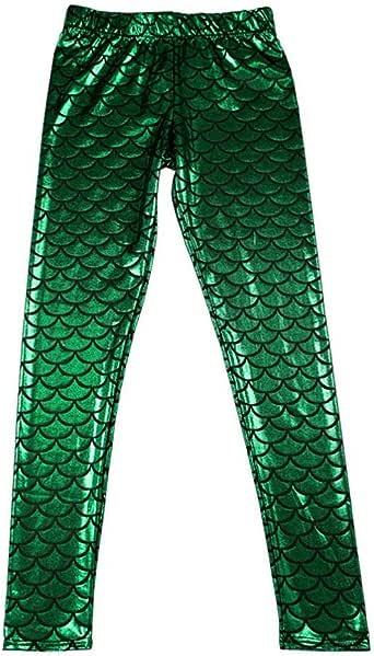 Leggings Mermaid Nixe Fisch Gr.34//36 grün,blau,silber,gold