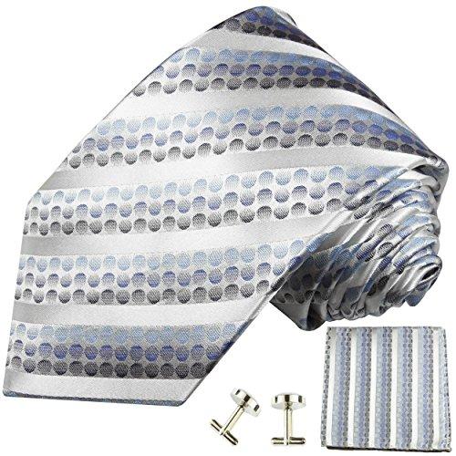 Cravate homme bleu rayée ensemble de cravate 3 Pièces ( longueur 165cm )