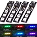 4PCS Matek 7 Colors RGB 5050 5V LED Board for ZMR250 QAV250 250 280 mini FPV Racing RC Drone Quadcopter by LITEBEE