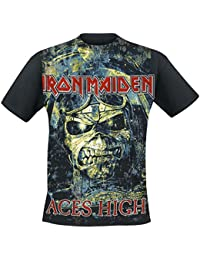 Iron Maiden Aces High Camiseta Negro