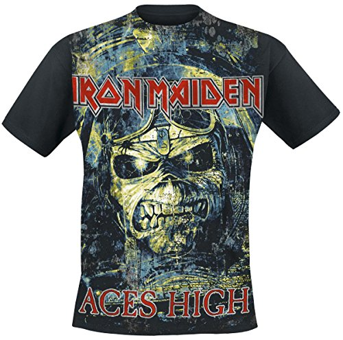 Iron Maiden Aces High Camiseta Negro XL