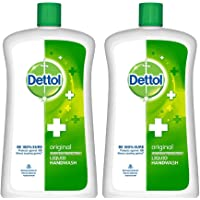 Dettol Liquid Handwash Refill Bottle - Original Germ Protection Hand Wash , 900 ml (Pack of 2) | Antibacterial Formula…