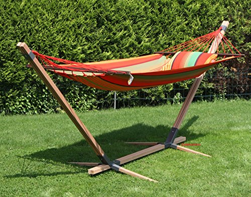 Hamac avec support en bois multicolores Madère Royal 470 cm Ella idhoo 3838