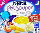 Nestlé Bébé P'tit Souper Semoule Légumes Soupe du soir dès 8 mois 2 x 250ml - Lot de 6
