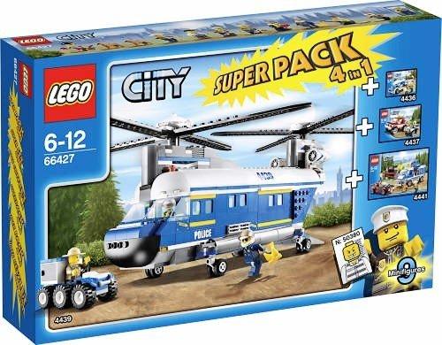 Preisvergleich Produktbild LEGO 66427 City Polizei Hubschrauber 4 in 1 Superpack / Set (4436 + 4437 + 4439 + 4441)