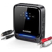 ELEGIANT Adaptateur Bluetooth 5.0, Émetteur et Récepteur 2-en-1 Transmetteur Récepteur Bluetooth Adaptateur Sortie Stéréo RCA 3.5mm Latence Faible pour TV Ordinateur PC Casque Stéréo Système Audio