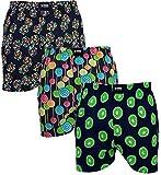 Happy Shorts 3 Webboxer Herren Boxer Motiv Boxershorts Farbwahl, Grösse:XL - 7-54, Präzise Farbe:Design 5