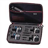 Smatree Smacase G360 Tasche für Gopro Hero 6/5/4/3/3+/2/1,Schwarz&Rot(Kamera...