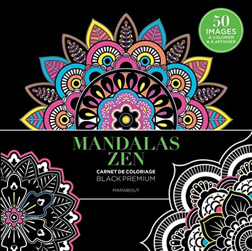 Black Premium Mandalas Zen par Collectif
