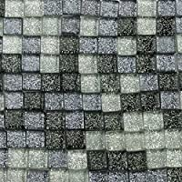 200G (200pcs) decoración manualidades 1cm rectangular cristal color mezclado mosaico azulejos