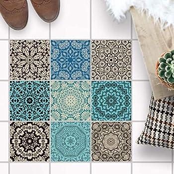 fliesen mosaik fliesen folie f r boden sticker. Black Bedroom Furniture Sets. Home Design Ideas