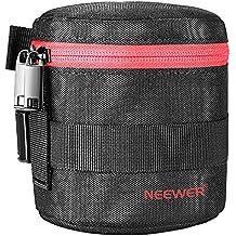 Neewer NW-L2020 Bolsa gruesa acolchada protectora resistente al agua de lente para lente 18-55MM, como Canon 50-1.4 50-1.8 85-1.8 18-55 35-2/Nikon 50-1.8 16-85 18-55 35-1.8G 60-2.8 24-85 40-1.8 (rojo)