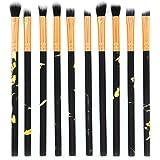 TAOtTAO 10 Pcs Makeup Brush Set Professional Face Eye Shadow Eyeliner Foundation Blush Lip Makeup Brushes Powder Liquid Cream Cosmetics Blending Brush Tool