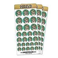 Leopard Gecko Licking Eye Removable Matte Sticker Sheets Set
