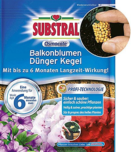 Substral Osmocote Langzeit Dünger-Kegel für Balkonpflanzen - 25 Stück