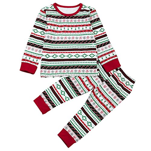 BURFLY Kinderkleidung ♥ Weihnachten Baby Boy's T-Shirt Tops + Pants Outfits Kleider Brother Set (3 -24 Monate und 3-7 Jahre alt) (4 Jahre alt, Rot)
