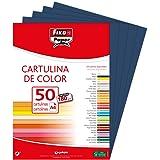 Fixo Paper 11110334 – Paquete de cartulinas A4 – 50 unidades color azul marino, 180g